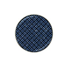 Woven2 Black Marble & Blue Marble Hat Clip Ball Marker (4 Pack) by trendistuff
