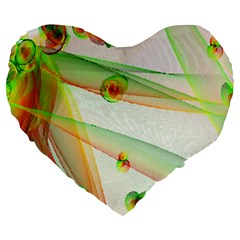 The Wedding Veil Series Large 19  Premium Flano Heart Shape Cushions by SugaPlumsEmporium
