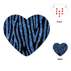 Skin4 Black Marble & Blue Marble (r) Playing Cards (heart) by trendistuff