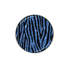 Skin4 Black Marble & Blue Marble Hat Clip Ball Marker (10 Pack) by trendistuff