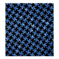 Houndstooth2 Black Marble & Blue Marble Shower Curtain 66  X 72  (large) by trendistuff
