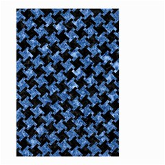 Houndstooth2 Black Marble & Blue Marble Small Garden Flag (two Sides) by trendistuff