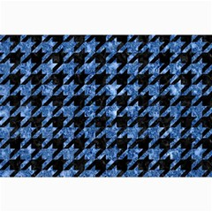 Houndstooth1 Black Marble & Blue Marble Collage 12  X 18  by trendistuff