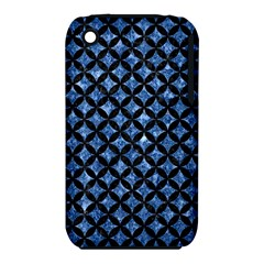 Circles3 Black Marble & Blue Marble (r) Apple Iphone 3g/3gs Hardshell Case (pc+silicone) by trendistuff
