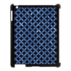 Circles3 Black Marble & Blue Marble Apple Ipad 3/4 Case (black) by trendistuff
