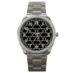 Star Of David   Sport Metal Watch by SugaPlumsEmporium