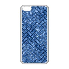 Brick2 Black Marble & Blue Marble (r) Apple Iphone 5c Seamless Case (white) by trendistuff