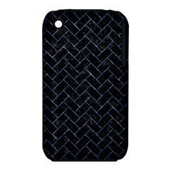 Brick2 Black Marble & Blue Marble Apple Iphone 3g/3gs Hardshell Case (pc+silicone) by trendistuff