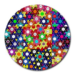 Star Of David Round Mousepads by SugaPlumsEmporium
