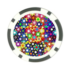 Star Of David Poker Chip Card Guards (10 Pack)  by SugaPlumsEmporium
