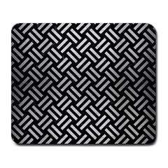Woven2 Black Marble & Silver Brushed Metal Large Mousepad by trendistuff