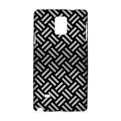 Woven2 Black Marble & Silver Brushed Metal Samsung Galaxy Note 4 Hardshell Case by trendistuff