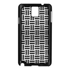 Woven1 Black Marble & Silver Brushed Metal (r) Samsung Galaxy Note 3 N9005 Case (black) by trendistuff