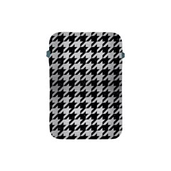 Houndstooth1 Black Marble & Silver Brushed Metal Apple Ipad Mini Protective Soft Case by trendistuff
