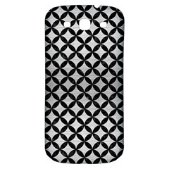 Circles3 Black Marble & Silver Brushed Metal (r) Samsung Galaxy S3 S Iii Classic Hardshell Back Case