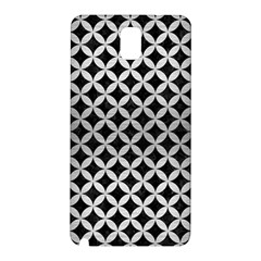 Circles3 Black Marble & Silver Brushed Metal Samsung Galaxy Note 3 N9005 Hardshell Back Case by trendistuff