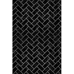Brick2 Black Marble & Silver Brushed Metal 5 5  X 8 5  Notebook by trendistuff