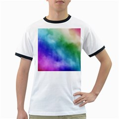 Rainbow Watercolor Ringer T Shirts by StuffOrSomething