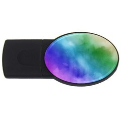 Rainbow Watercolor Usb Flash Drive Oval (4 Gb)  by StuffOrSomething