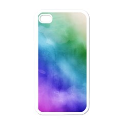 Rainbow Watercolor Apple Iphone 4 Case (white) by StuffOrSomething