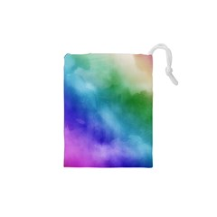 Rainbow Watercolor Drawstring Pouches (xs)  by StuffOrSomething