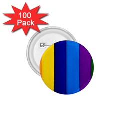 Rainbow Painting On Wood 1 75  Buttons (100 Pack)  by StuffOrSomething