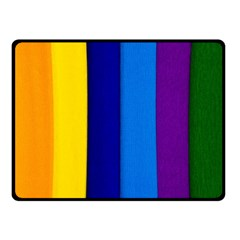 Rainbow Painting On Wood Fleece Blanket (small) by StuffOrSomething