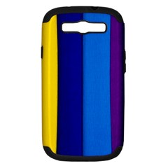 Rainbow Painting On Wood Samsung Galaxy S Iii Hardshell Case (pc+silicone) by StuffOrSomething