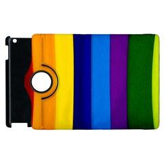 Rainbow Painting On Wood Apple Ipad 2 Flip 360 Case by StuffOrSomething