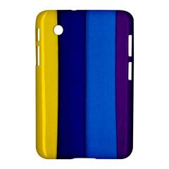 Rainbow Painting On Wood Samsung Galaxy Tab 2 (7 ) P3100 Hardshell Case  by StuffOrSomething
