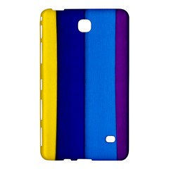 Rainbow Painting On Wood Samsung Galaxy Tab 4 (8 ) Hardshell Case  by StuffOrSomething