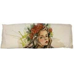 Beauty Of A woman In Watercolor Style Body Pillow Case (Dakimakura) by TastefulDesigns