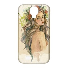 Beauty Of A Woman In Watercolor Style Samsung Galaxy S4 Classic Hardshell Case (pc+silicone) by TastefulDesigns