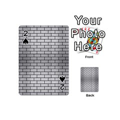 Brick1 Black Marble & Silver Brushed Metal (r) Playing Cards 54 (mini) by trendistuff