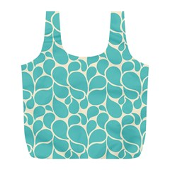 Blue Abstract Water Drops Pattern Full Print Recycle Bags (l)  by TastefulDesigns