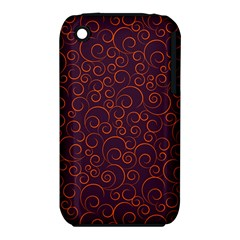 Seamless Orange Ornaments Pattern Apple iPhone 3G/3GS Hardshell Case (PC+Silicone) by TastefulDesigns