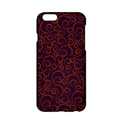 Seamless Orange Ornaments Pattern Apple Iphone 6/6s Hardshell Case by TastefulDesigns