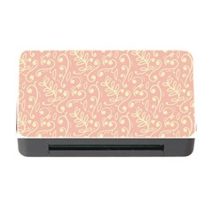 Girly Pink Leaves And Swirls Ornamental Background Memory Card Reader With Cf by TastefulDesigns