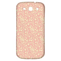 Girly Pink Leaves And Swirls Ornamental Background Samsung Galaxy S3 S Iii Classic Hardshell Back Case by TastefulDesigns