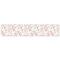 Hand Drawn Seamless Floral Ornamental Background Flano Scarf (small) by TastefulDesigns