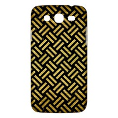 Woven2 Black Marble & Gold Brushed Metal Samsung Galaxy Mega 5 8 I9152 Hardshell Case  by trendistuff