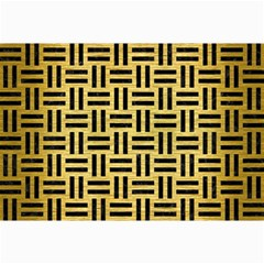 Woven1 Black Marble & Gold Brushed Metal (r) Collage 12  X 18  by trendistuff