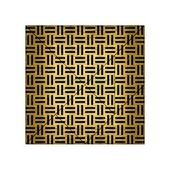 Woven1 Black Marble & Gold Brushed Metal (r) Acrylic Tangram Puzzle (4  X 4 ) by trendistuff