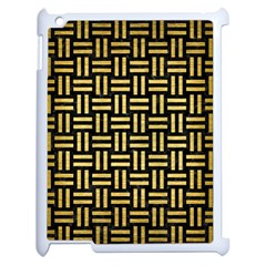 Woven1 Black Marble & Gold Brushed Metal Apple Ipad 2 Case (white) by trendistuff