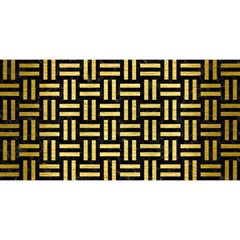 Woven1 Black Marble & Gold Brushed Metal You Are Invited 3d Greeting Card (8x4)