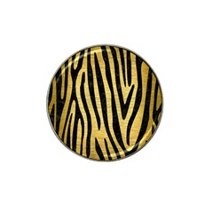 Skin4 Black Marble & Gold Brushed Metal Hat Clip Ball Marker (4 Pack) by trendistuff