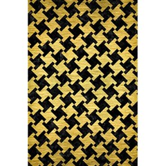 Houndstooth2 Black Marble & Gold Brushed Metal 5 5  X 8 5  Notebook by trendistuff