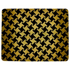 Houndstooth2 Black Marble & Gold Brushed Metal Jigsaw Puzzle Photo Stand (rectangular) by trendistuff
