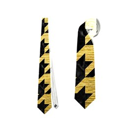 HTH1 BK MARBLE GOLD Neckties (Two Side)  by trendistuff