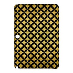 Circles3 Black Marble & Gold Brushed Metal (r) Samsung Galaxy Tab Pro 10 1 Hardshell Case by trendistuff